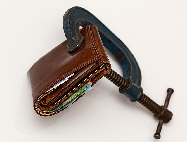 Porte monnaie resseré